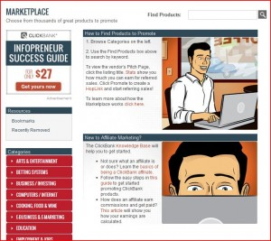 Clickbank page